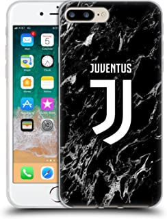 Official Juventus Football Club Black 2017/18 Marble Soft Gel Case Compatible for iPhone 7 Plus/iPhone 8 Plus