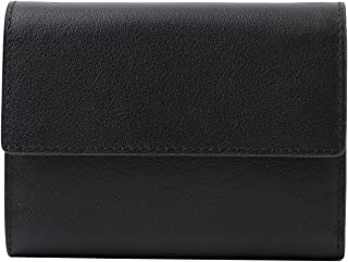 [High-end]本革 カウレザー コンパクト 三つ折り財布 ボックス 付き 牛革 プレゼント ギフト 父の日