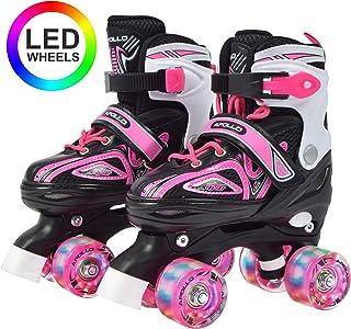 Super Quad X Pro, Patines LED para niños y Adolescentes, Ideales para Principiantes, cómodos Patines para niños y niñas