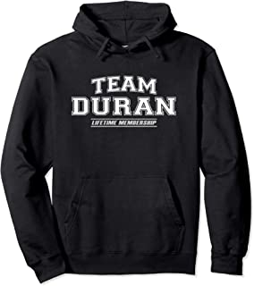 Team Duran | Proud Family Surname, Last Name Gift Pullover Hoodie