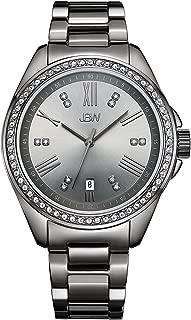 JBW Luxury Women's Capri 12 Diamonds Dial & Swarovski Crystal Bezel Watch - J6340E