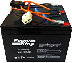 Beiter DC Power Razor 12 Volt 7Ah Electric Scooter Replacement Battery Pack Brand High Capacity - Set of 2 Includes New Wiring Harness Instructions Included! 6-DW-7