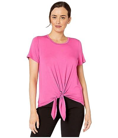 Karen Kane Short Sleeve Tie Front Top (Pink) Women