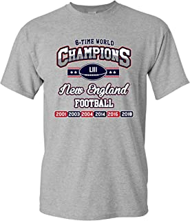 New World Champion 6-Time New England Football DT Adult T-Shirt Tee