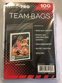 200 Ultra Pro Standard Team Bags 2 Packs of 100 New Team Set Lot Value Pack