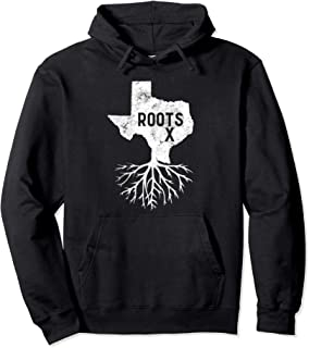 TX Roots Native Texas Pride Texan Gift Vintage State Map Pullover Hoodie