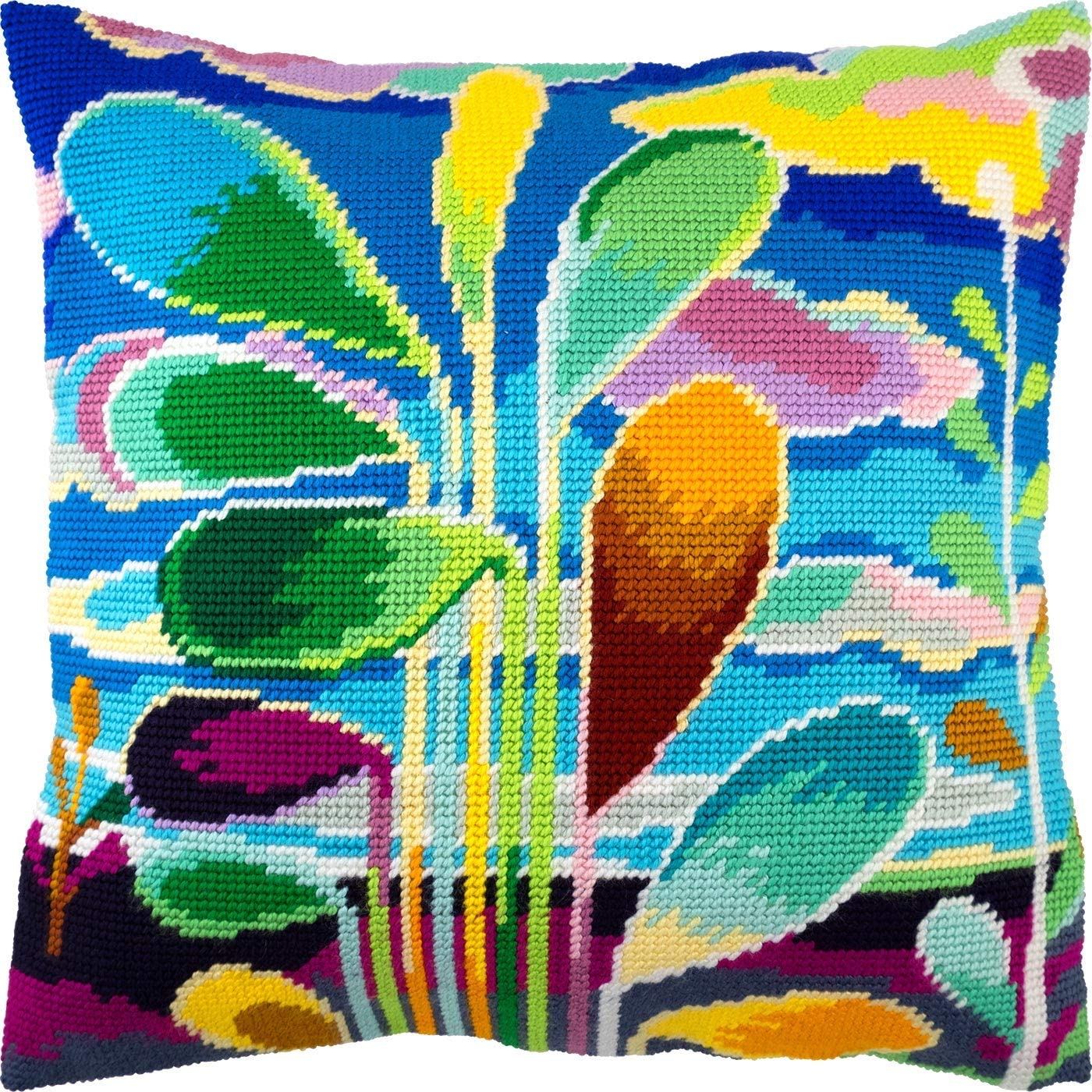 Abstract New product Super popular specialty store Tree. Needlepoint Kit. Throw 16×16 Pr Inches. Pillow