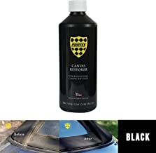Protex World Convertible Soft Top Canvas Restorer Black 500ml. Specially formulated to rejuvenate your faded canvas soft top, this colour restorer will produce a strong and even finish, penetrating deep into your canvas top. This product will keep your roof looking like new and is easy to apply giving unbelievable results. Suitable for the auto detailing of all types of soft top, ragtops and tonneau covers. Can be used for new and classic car detailing.