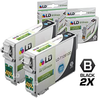 LD Remanufactured Ink Cartridge Replacement for Epson 126 T126120 (Black, 2-Pack)