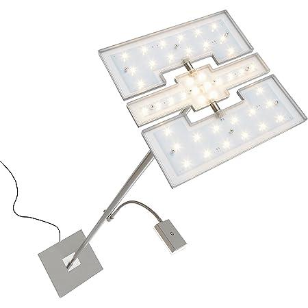 Briloner Leuchten 1328-022 Lampadaire LED dimmable - avec tête 3 en 1 modulable et liseuse flexible - variateur tactile - 21 W + 3.5 W - hauteur : 180 cm