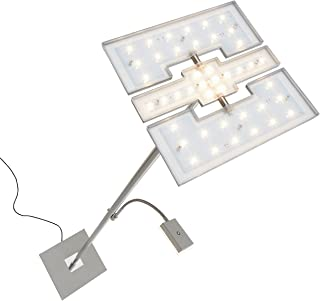 Briloner Leuchten - Lámpara de pie LED para el salón, regulable, con foco al