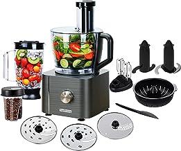 TopStrong Robot Cuisine Multifonction 1100W Robot Multifonction,11 en 1 Robot Culinaire inclus Hachoir, Crochet Pétrisseur...