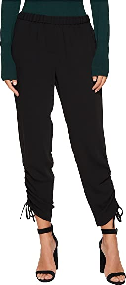 1.STATE - Flat Front Side Rouched Pants
