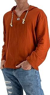 Love Quality Men's Sun Hoodie Hippie Shirt 100% Cotton Top