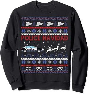 Police Navidad Ugly Christmas Sweater Design Sweatshirt