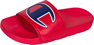 Champion Boy's Kid's Youth Ipo Big C Logo Slide Sandal (3, Red Red)