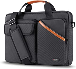 iCozzier 15-15.6 Inch Multi-Pocket Laptop Sleeve Briefcase Large Capacity Shoulder Bag Electronic Accessories Organizer Waterproof Messenger Carrying Case - Black