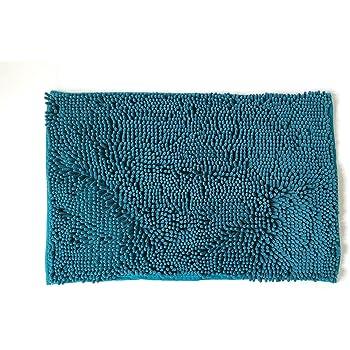 NEOMI Alfombrilla de baño, Antideslizante, de Microfibra, Chenille (Lyons Azul)