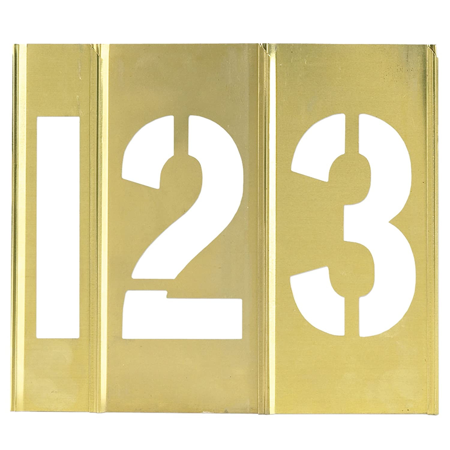 store Brass Stencils Number OFFicial shop Only 15 Case 1