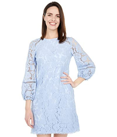 Vince Camuto Lace T Body with Balloon Sleeve and Trim Details (Sky Blue) Women