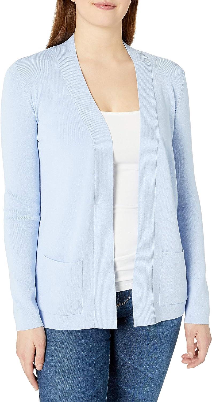Jones New York Women's Long Sleeve Open Front Two Pocket Cardigan Sweater