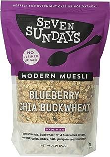 Seven Sundays Blueberry Chia Buckwheat Muesli Cereal, Gluten Free Certified, Non GMO, No Refined Sugar, Kosher, 32 Ounce