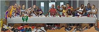 NBA Stars Last Supper Art Print 16x50 20x62 24x72 (16