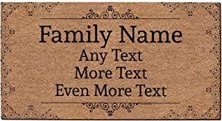 Custom Name Gifts Personalized Text Doormat Custom Welcome Mat Personalized Doormat Simulated Coir