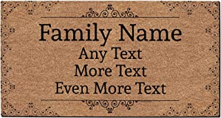 coir door mats personalized