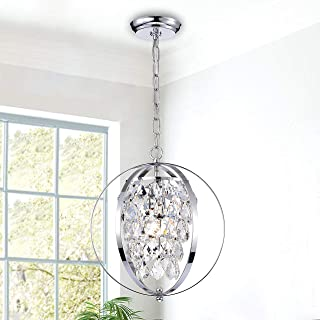 Globe Chandeliers Crystal Chrome Chandelier Lighting 1 Light Ceiling Light Fixture 17046