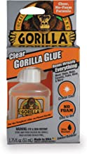 Gorilla Clear Glue, 1.75 ounce Bottle, Clear (Pack of 1)