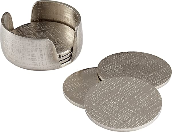 Cyan Design 08130 Nickel Coasters