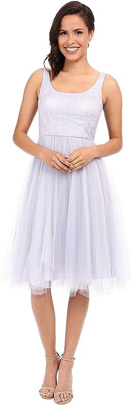 Chantal Scoop Neck Tulle Dress