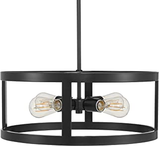 Athenae 4 Light Exposed Semi Flush Mount Ceiling Light | Dark Bronze Pendant Light with LED Bulbs LL-CL701-6DB