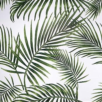 Papel Adhesivo para Muebles Hojas Verdes 45cmX2m Impermeable Papel Pintado Vinilo Pegatina Para Muebles PVC Rollo Decorativos Cocina Armario