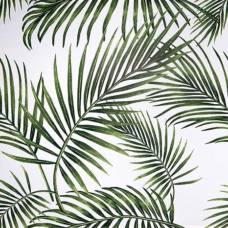 Furniture Film Self Adhesive Film Furniture Wallpaper Green Leaves 45 Cm Wide Kitchen Pvc Waterproof Wall Vinyl Film Bedroom Amazon De Home Kitchen