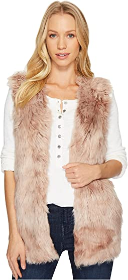 Dylan by True Grit - Melange Long Faux Fur Vest