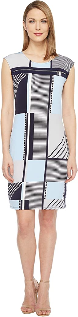All Over Print Zipper Dress