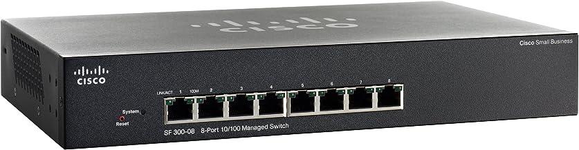 Cisco SF 300-08 Gestionado L3 Negro 1U - Switch de Red (Gestionado, L3, Bidireccional Completo (Full Duplex), Montaje en Rack, 1U)