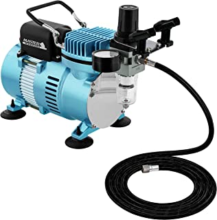 Master Airbrush 1/5 HP Cool Runner II Dual Fan Air Compressor Kit Model TC-320 - Professional Single-Piston with 2 Cooling...