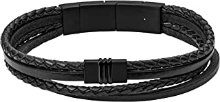 Fossil Men's Black Bracelet, JF03098001