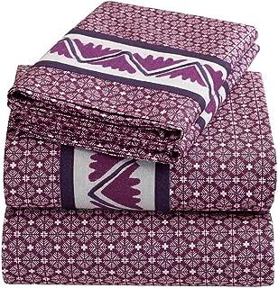 Natori Sumatra 400-Tread Count Cotton Sateen Print Queen Fitted Sheet