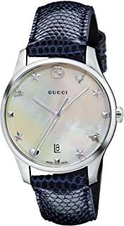 0c49667e6db Gucci G-Timeless Mother of Pearl Dial Ladies Leather Watch YA126588