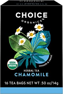 Choice Organics – Organic Chamomile Tea (6 Pack) – Organic Herbal Tea – 96 Tea Bags