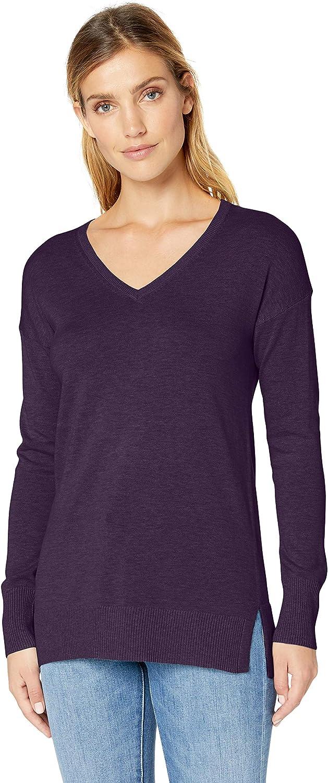 Essentials Lightweight V-Neck Tunic Sweater Gilet Femme