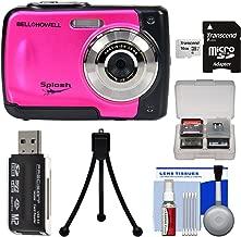 Bell & Howell Splash WP10 Shock & Waterproof Digital Camera (Pink) with 16GB Card + Tripod + Reader + Kit