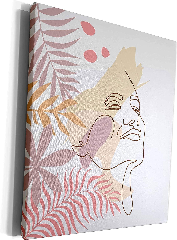 3dRose Uta Naumann Super beauty product restock quality Indefinitely top Watercolor Illustration Line Feminine Art-W -