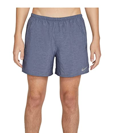 Nike Dri-FIT Challenger Shorts 5 Brief (Obsidian/Heather/Reflective Silver) Men