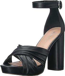 BCBGeneration Women's Flora Heeled Sandal, Black, 10 M US