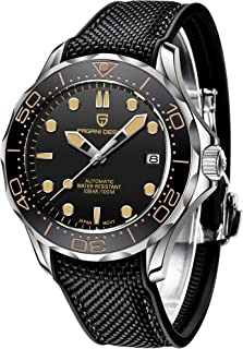 Pagani Design 007 Seamaster Automatic Diving Watches for Men Stainless Steel Band, Ceramic Bezel, Sapphire Curved Mirror, ...